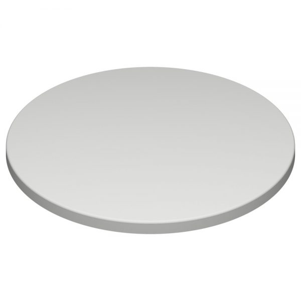 Werzalit by SM France Duratops -700mm dia Round-White